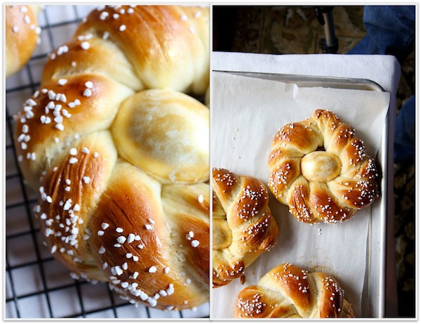Italian Easter Bread With Hard Boiled Eggs  As Easter approaches try making Italian Easter Bread