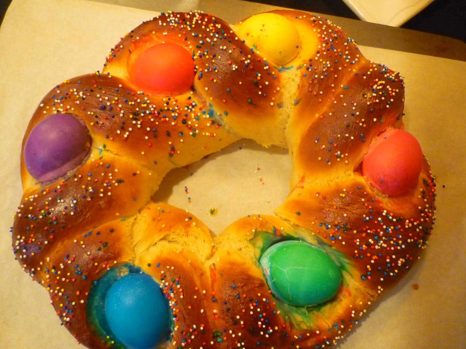Italian Easter Bread With Hard Boiled Eggs  Eat A Plant Buona Pasqua with Italian Easter Bread