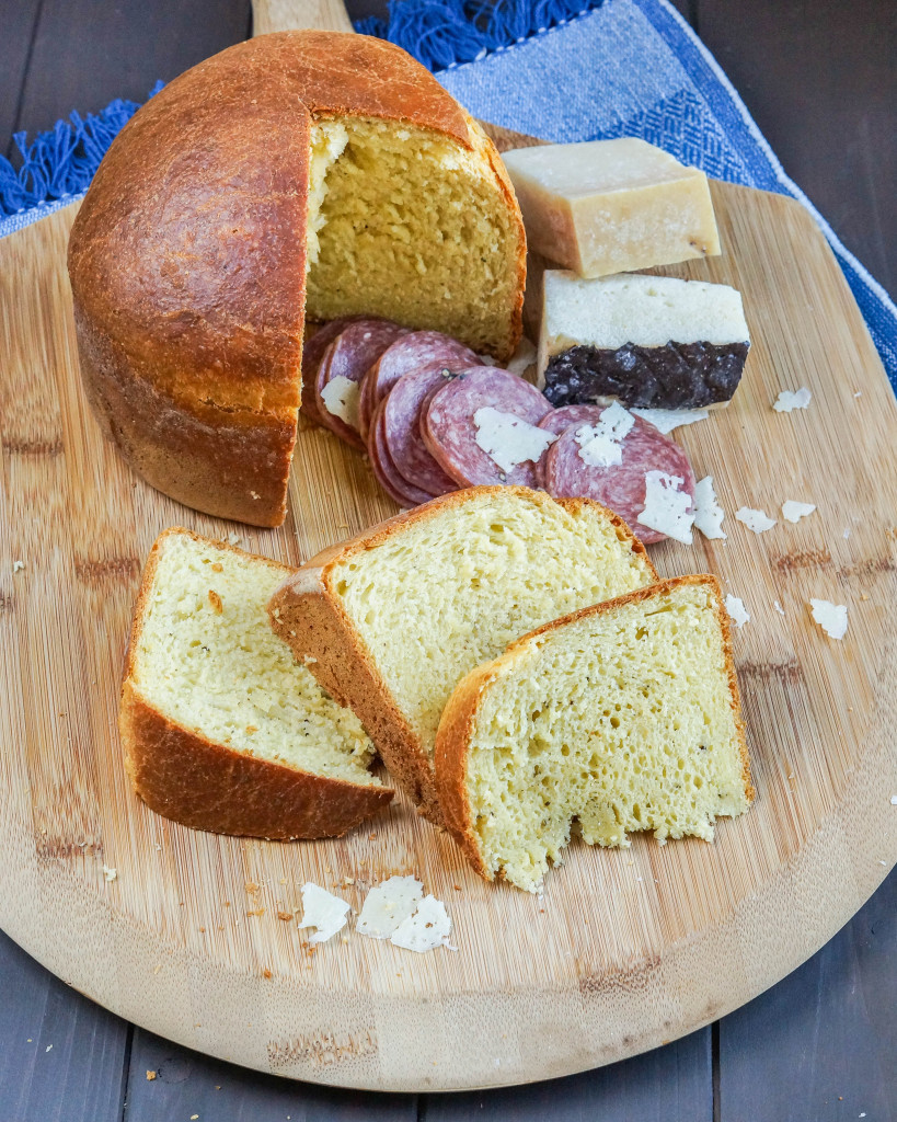 Italian Easter Bread With Meat And Cheese  Crescia al Formaggio Italian Easter Cheese Bread Tara