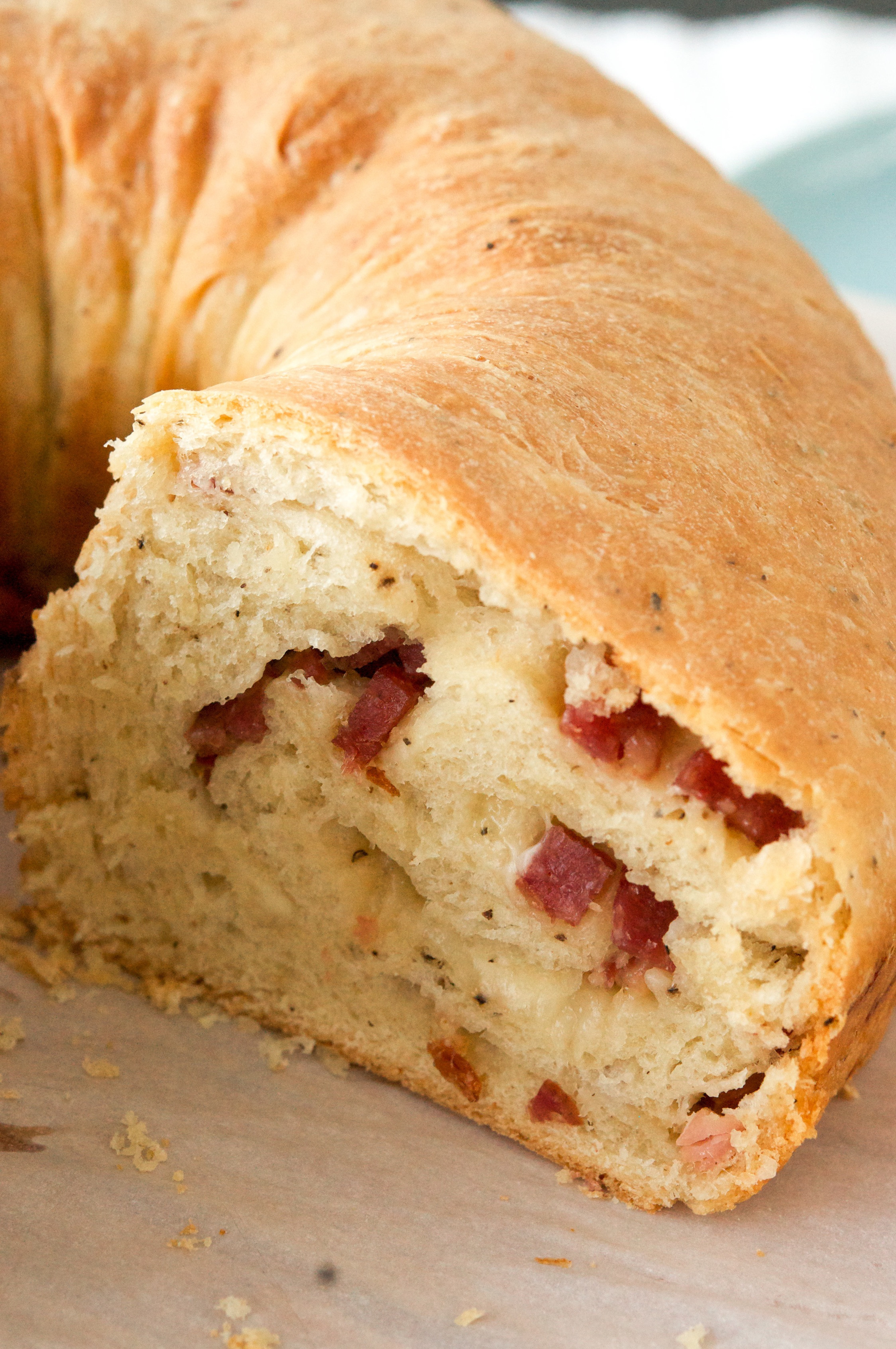 Italian Easter Bread With Meat And Cheese  italian easter bread with meat