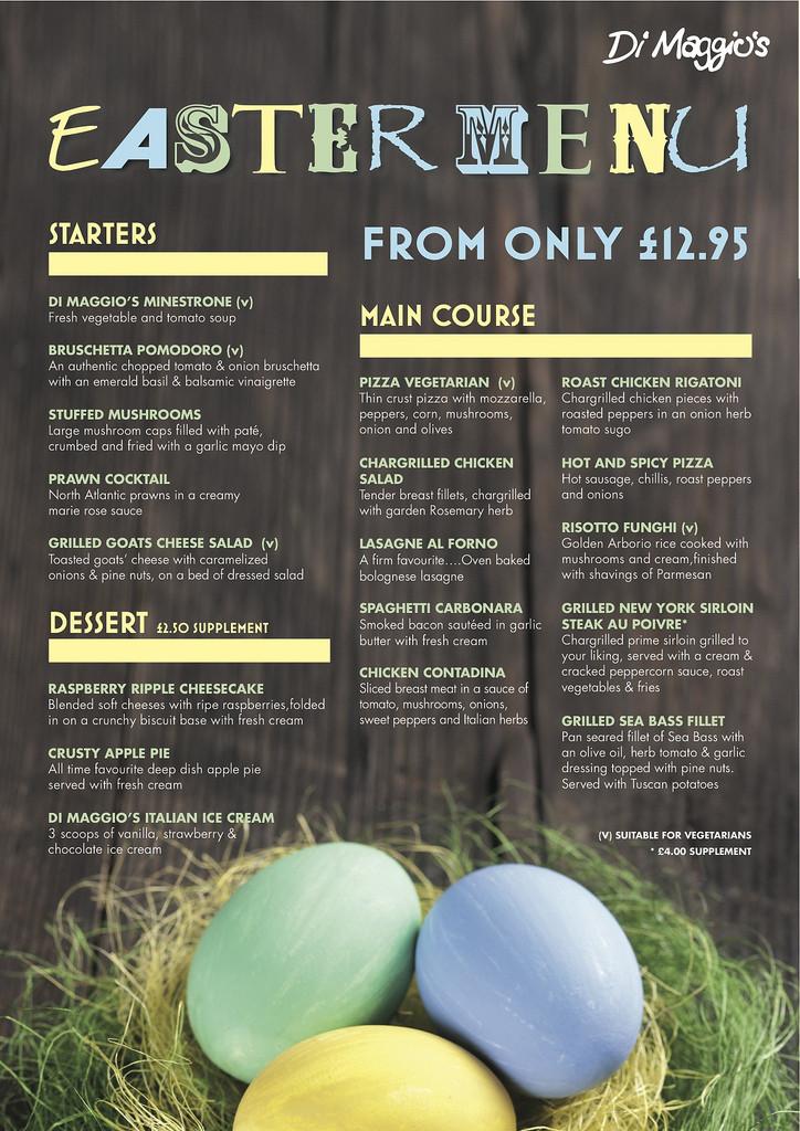 Italian Easter Dinner Menu  ITALIAN EASTER MENU EASTER MENU 13 COINS MENU