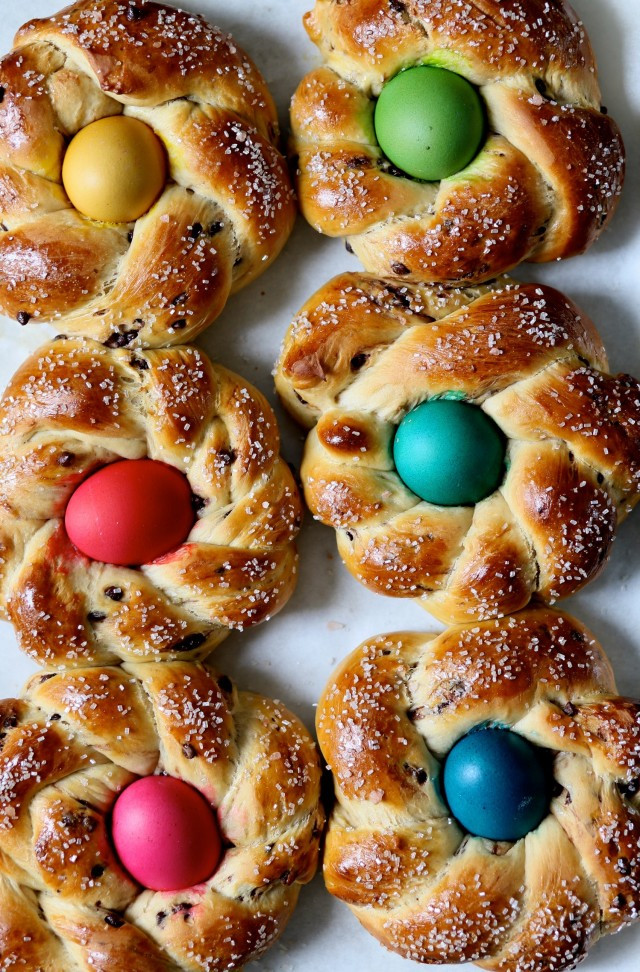 Italian Easter Egg Bread Recipe  Chocolate Marbled Italian Easter Bread