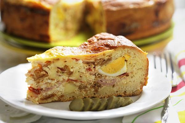 Italian Easter Ham Pie  Pizza Rustica Easter Pie