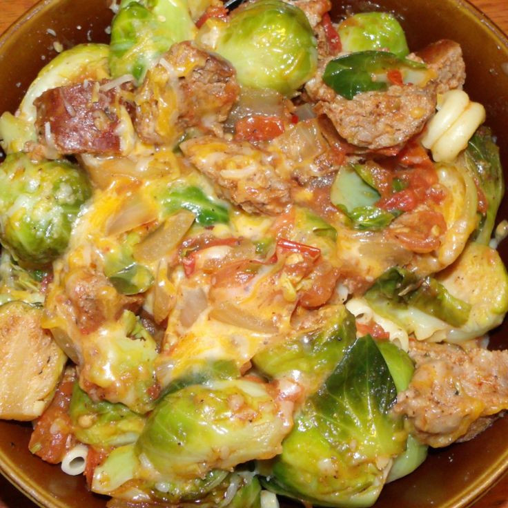 Italian Sausage Recipes Healthy  Italian Sausage and Brussel Sprouts Dinner