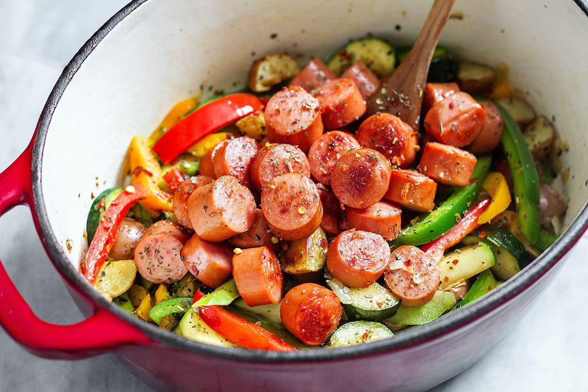 Italian Sausage Recipes Healthy  e Pot Sausage and Ve ables Recipe — Eatwell101