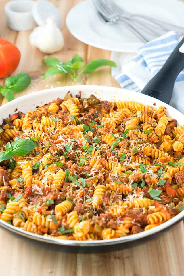 Italian Sausage Recipes Healthy  Italian Sausage and Peppers Pasta Skillet