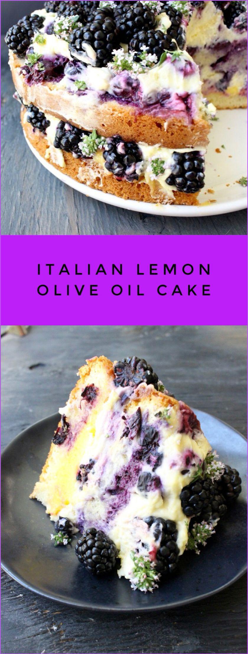 Italian Summer Desserts  Italian Lemon Olive Oil Cake Recipe with Berries and