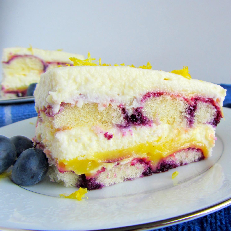 Italian Summer Desserts  Lemon Blueberry Tiramisu A baJillian Recipes