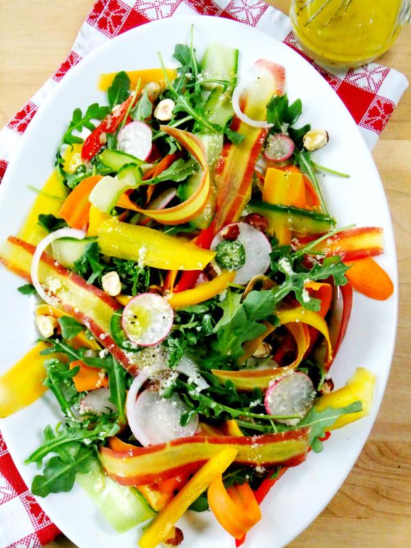 Italian Summer Recipes  Summer Carrot Ribbon Salad Proud Italian Cook