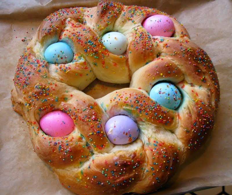 Italian Sweet Easter Bread Recipe  Row homes and Cobblestones Ancient Spring Legends became
