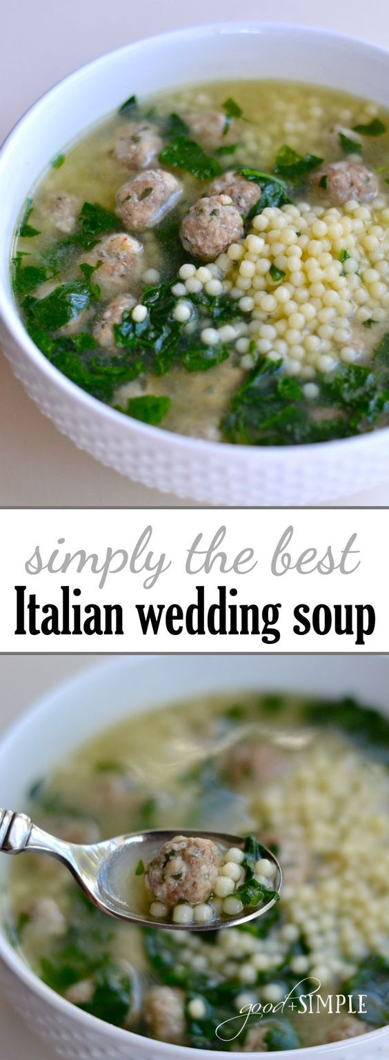 Italian Wedding Soup Recipes Easy  The BEST Homemade Soups Recipes – Easy Quick and Yummy
