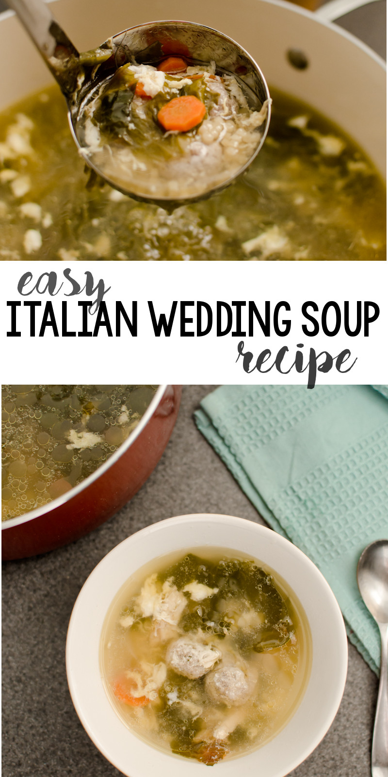 Italian Wedding Soup Recipes Easy  Easy Italian Wedding Soup Recipe A Grande Life