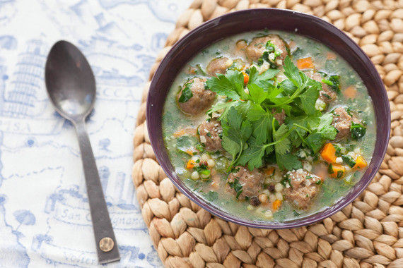 Italian Wedding Soup Recipes With Spinach  Recipe Italian Wedding Soup with Fregola Sarda & Spinach