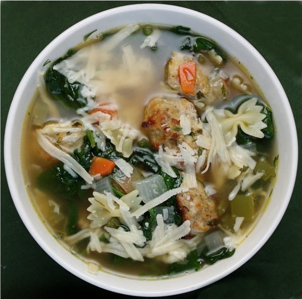 Italian Wedding Soup Recipes With Spinach  Weekly Menu Plan 12 Recipe Girl