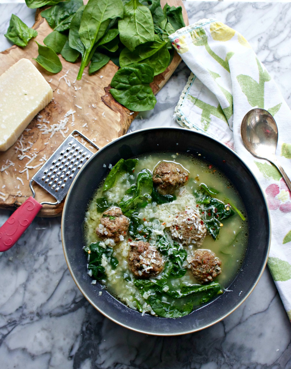 Italian Wedding Soup Recipes With Spinach  Italian Wedding Soup Keto Paleo Friendly Spinach Tiger