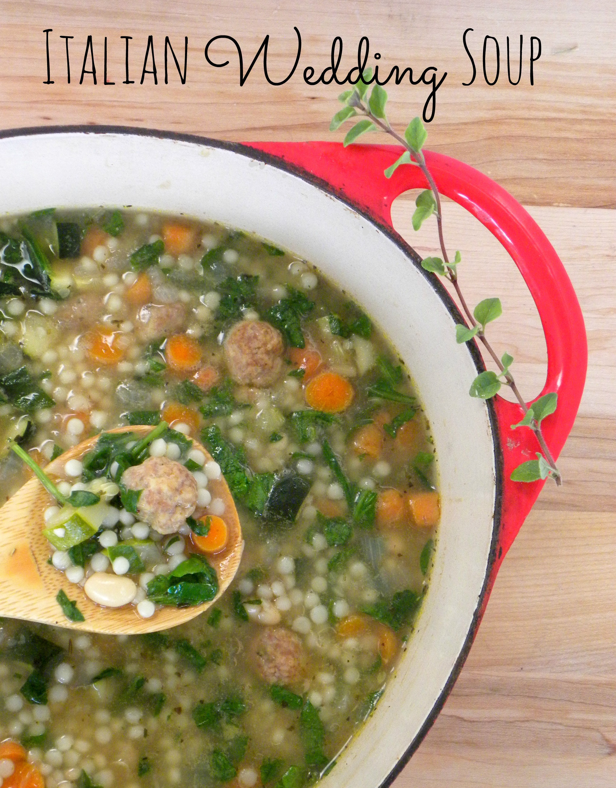 Italian Wedding Soup Recipes With Spinach  Italian Wedding Soup with Turkey Meatballs