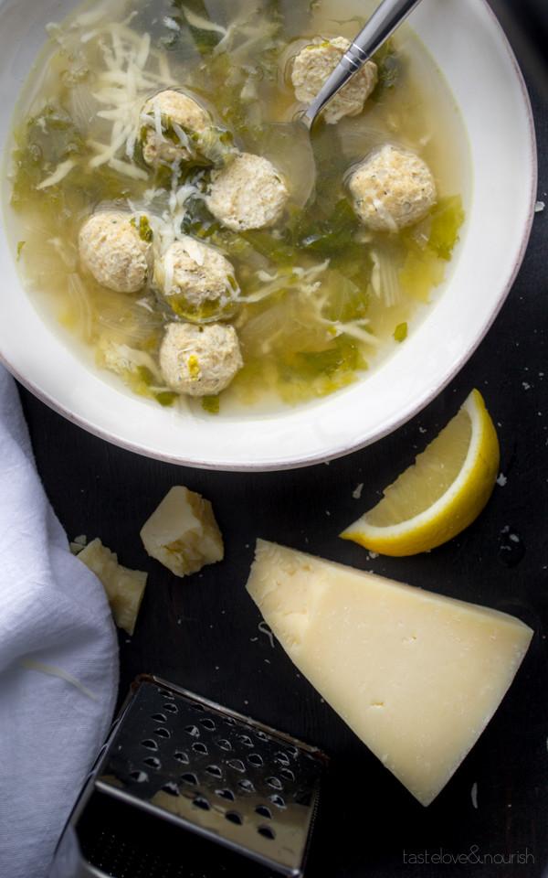 Italian Wedding Soup With Chicken  Italian Wedding Soup Taste Love and Nourish