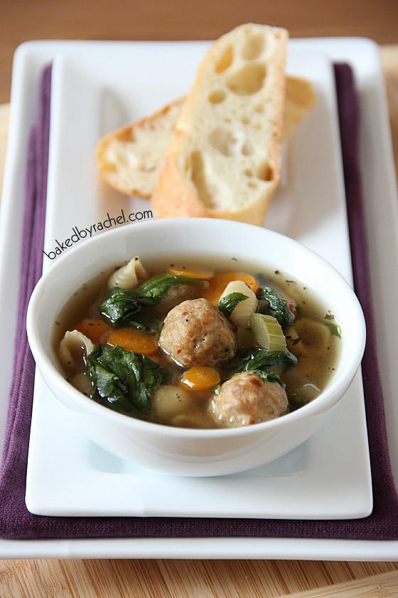 Italian Wedding Soup With Chicken  Slow Cooker Italian Wedding Soup