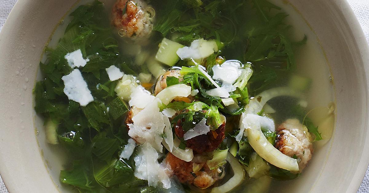 Italian Wedding Soup With Chicken  Italian Wedding Soup with Chicken Meatballs