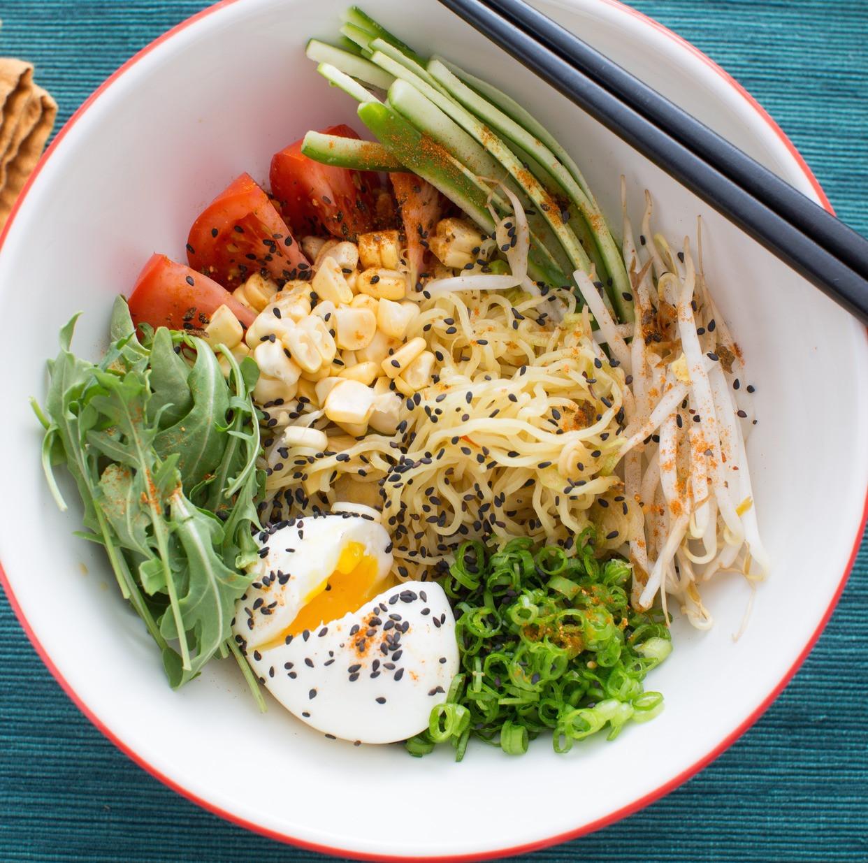 Japanese Summer Recipes  Recipe Summer Ve able Hiyashi Chuka with Fresh Ramen