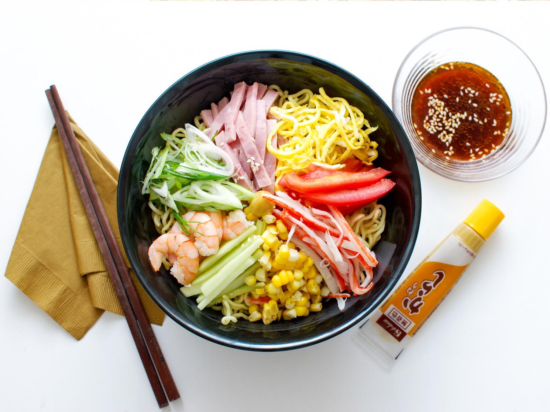Japanese Summer Recipes  Cool off With Cold Ramen How to Make Hiyashi Chuka at