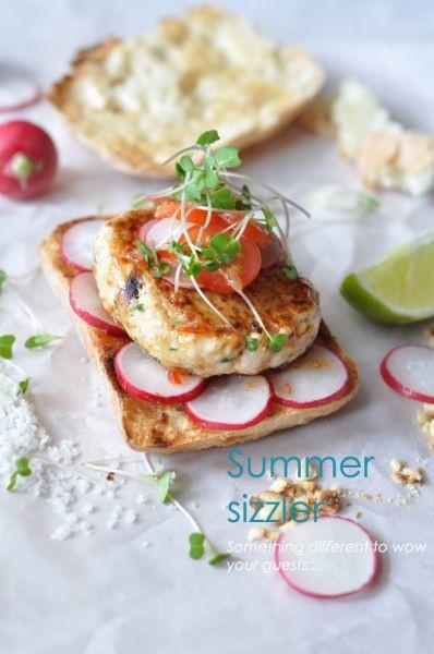 Japanese Summer Recipes  Summer recipe asian chicken burger Recipe Petitchef