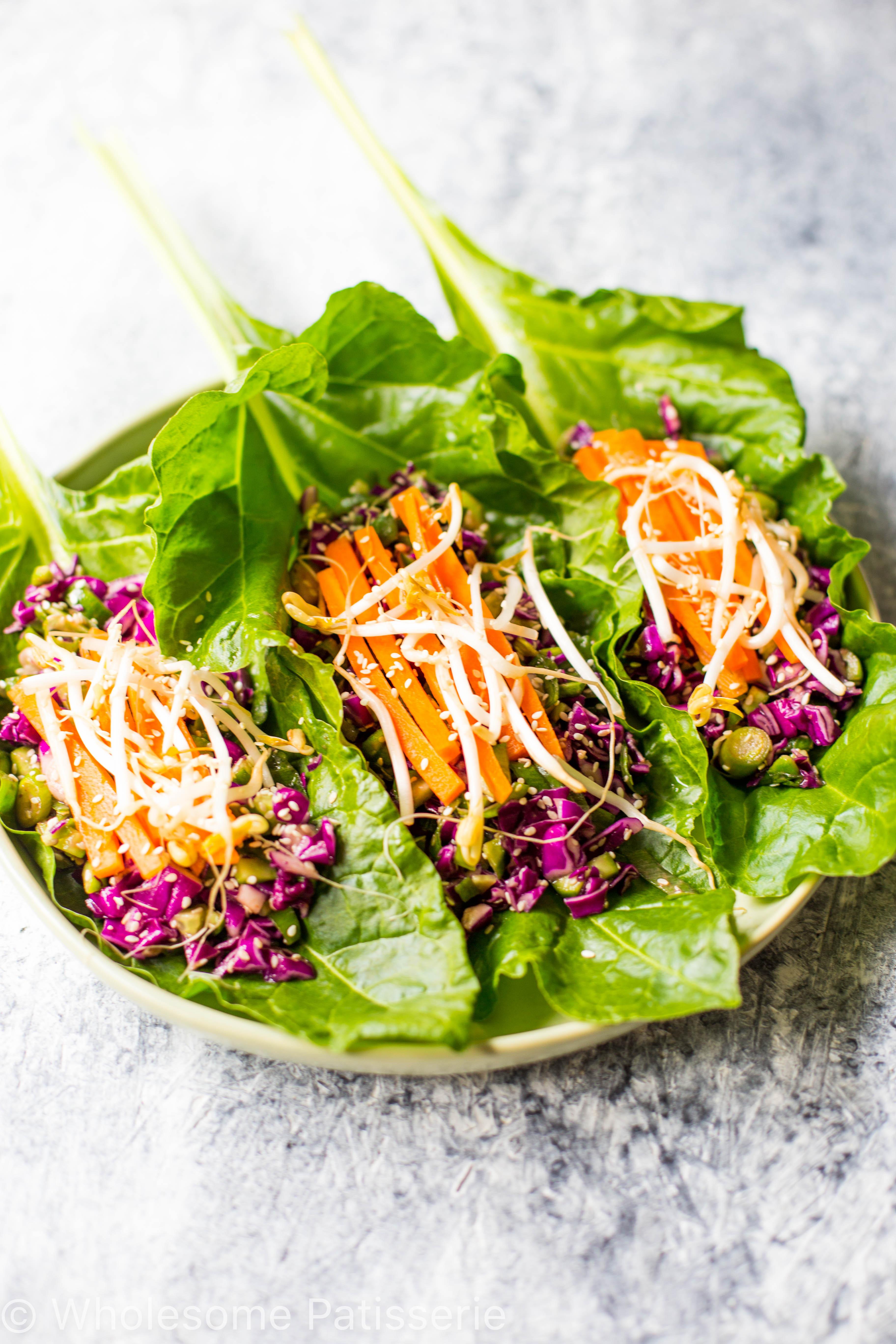 Japanese Summer Recipes  Vegan Asian Lettuce Wraps