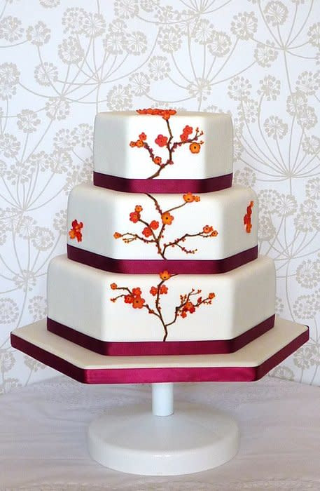 Japanese Wedding Cakes  Japanese Orange Blossom Wedding Cake cake by