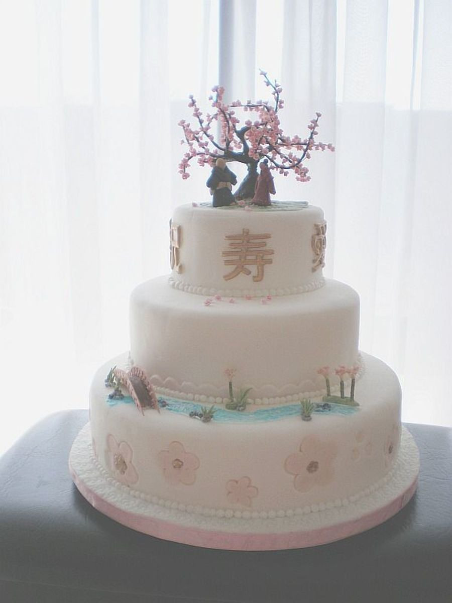 Japanese Wedding Cakes  Japanese Inspired Wedding Cake CakeCentral