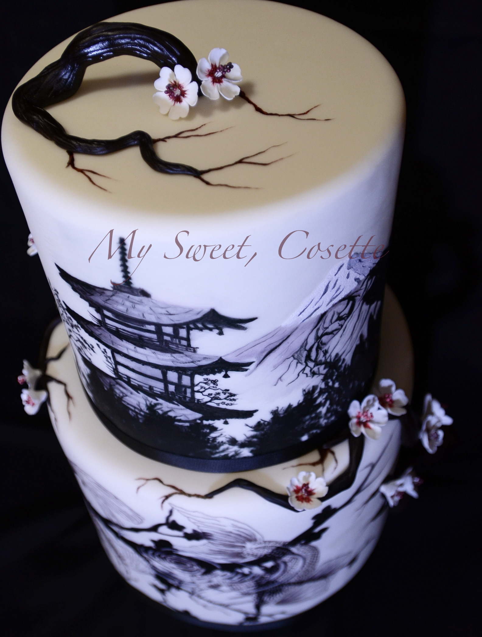Japanese Wedding Cakes  Japanese Theme Wedding Cake CakeCentral