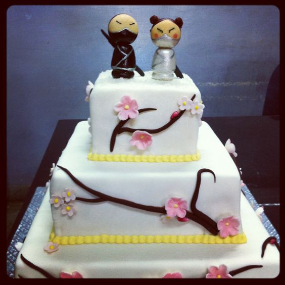 Japanese Wedding Cakes  Ninja cake Japanese wedding themes and Ninjas on Pinterest