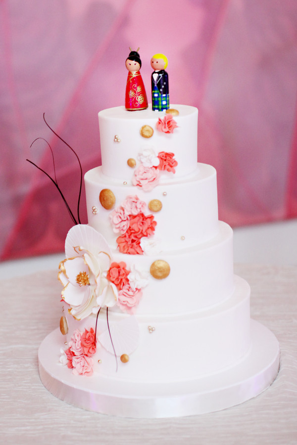 Japanese Wedding Cakes  Japanese Inspired White Wedding Cake Elizabeth Anne