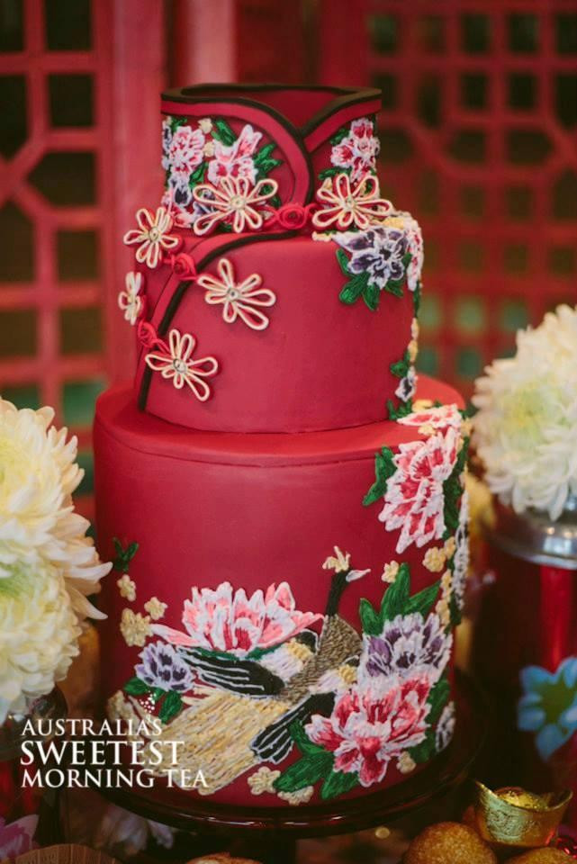 Japanese Wedding Cakes  Oriental Wedding Chinese Dress Inspired Cake