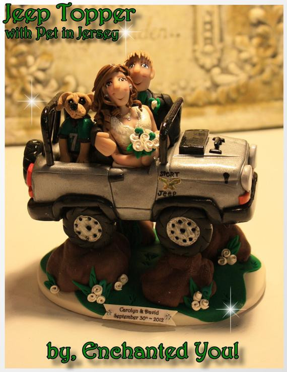 Jeep Wedding Cakes  Jeep Personalized Wedding Cake Topper