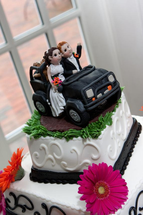 Jeep Wedding Cakes  Jeep Wedding Cake Topper