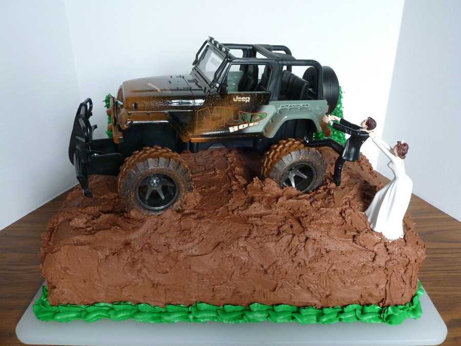 Jeep Wedding Cakes  Chocolate Groom s Cake W jeep CakeCentral