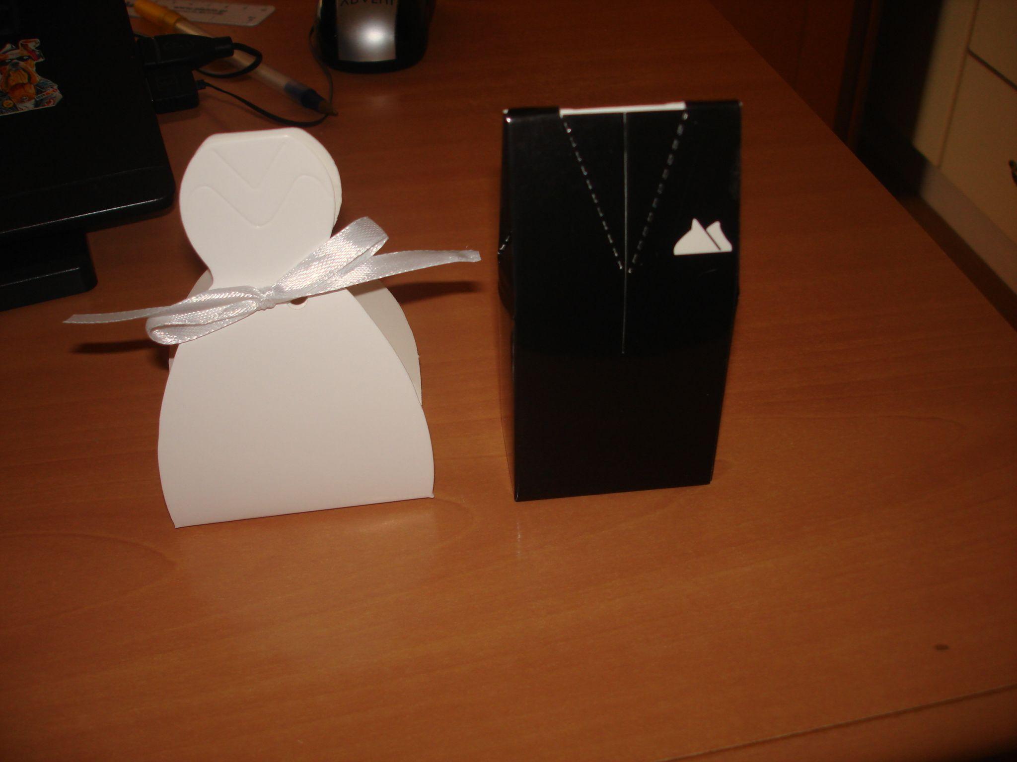 Jenny'S Wedding Cakes  La mariée et le marié Boîtes cadeaux avec Rubans Lot de 6