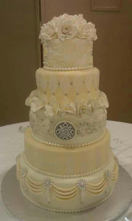 Jewel Wedding Cakes  You have to see Bethany s jeweled wedding cake by Sherri