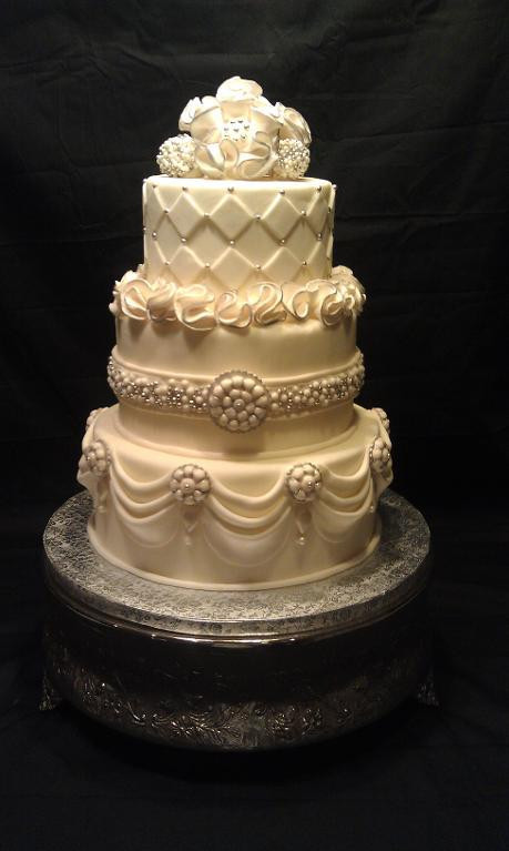 Jewel Wedding Cakes  Jeweled Wedding Cake an line Craftsy Wedding Cake