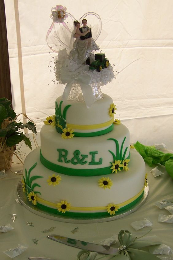 John Deere Wedding Cakes  John deere wedding cake idea in 2017