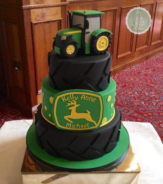 John Deere Wedding Cakes  John Deere wedding cake cake by Crew Cakes CakesDecor