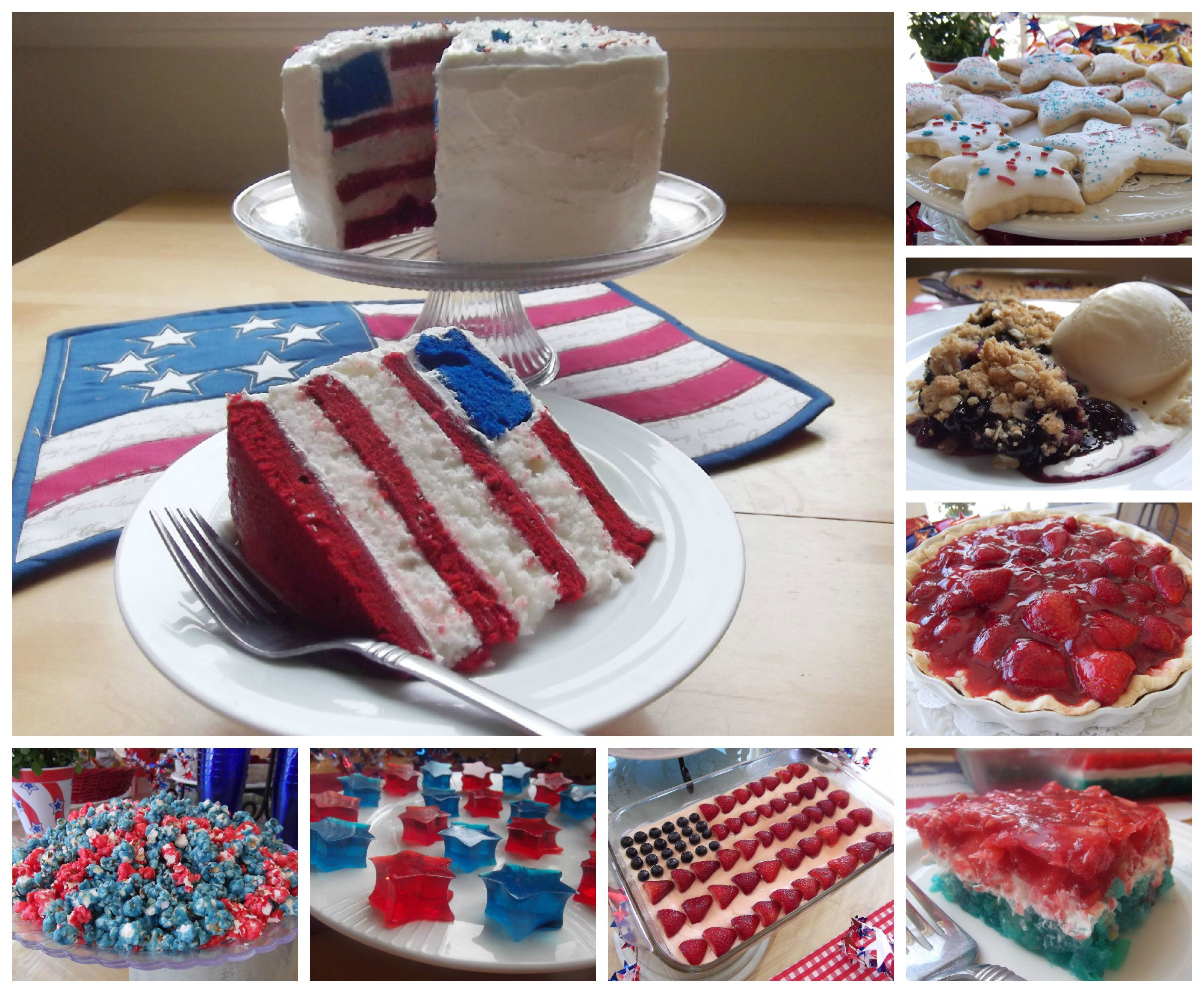 July 4 Desserts  July 4th Dessert and Snack Ideas and Recipes