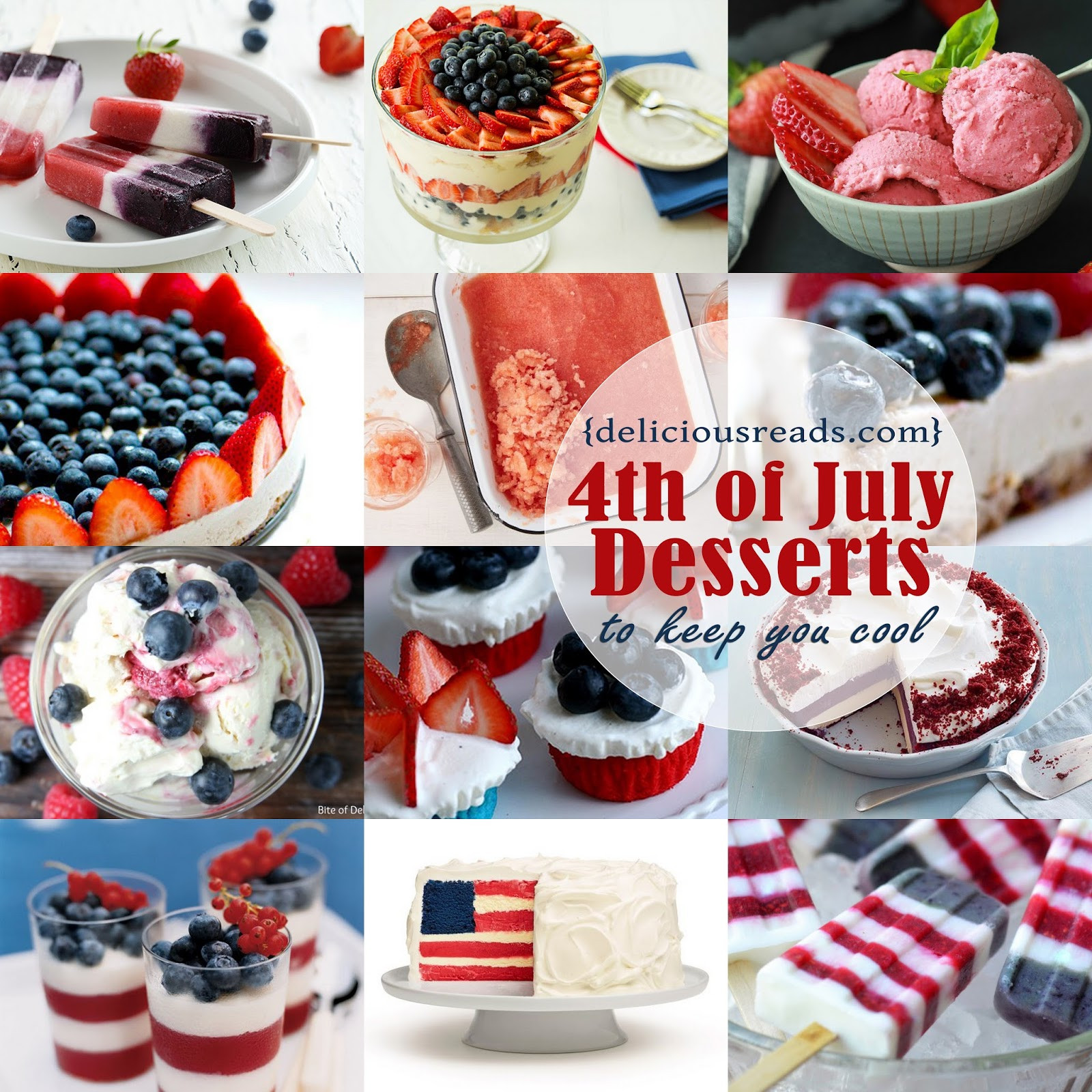 July 4 Desserts  Delicious Reads Delicious Dish 4th of July Desserts That