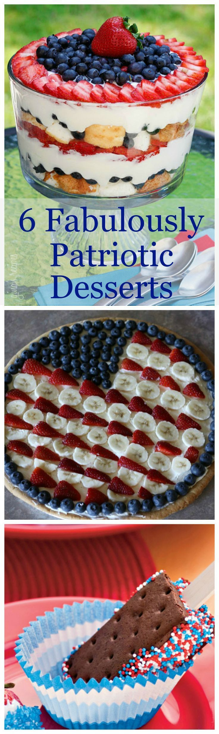 July 4 Desserts  10 best images about 4th of July on Pinterest