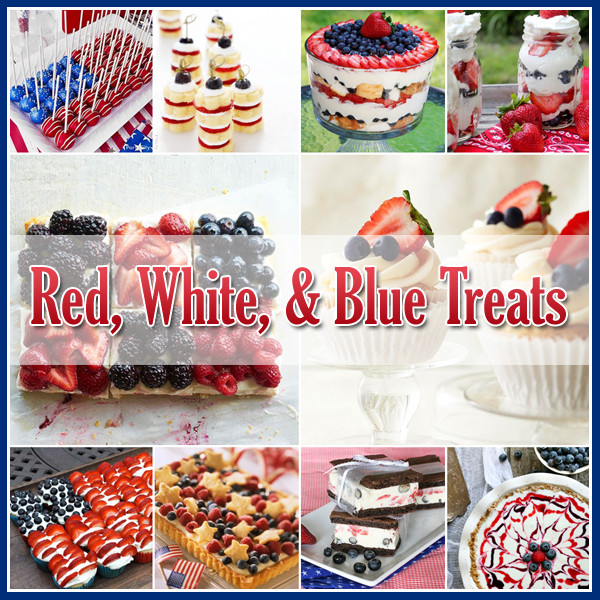 July 4 Desserts  4th of July Red White and Blue Desserts The Cottage Market