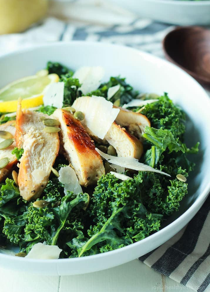 Kale Recipes Easy Healthy  Kale Chicken Caesar Salad