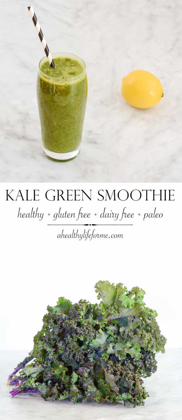Kale Smoothie Recipes Healthy  Kale Green Smoothie A Healthy Life For Me