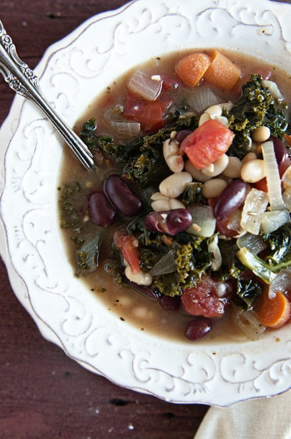 Kale Soup Recipes Healthy  Healthiness Recipe Healthy 2 Bean Kale Soup Dine and Dish