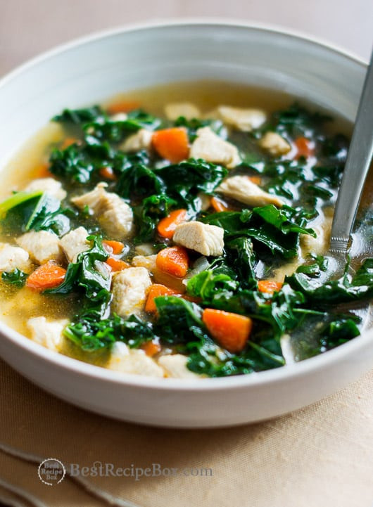 Kale Soup Recipes Healthy  Healthy Chicken Soup with Kale Recipe