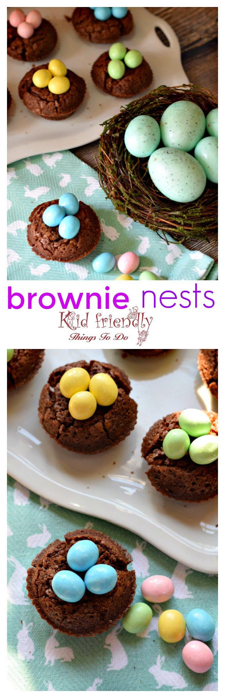 Kid Friendly Easter Desserts  Brownie Bird Nests Recipe Fun Foods